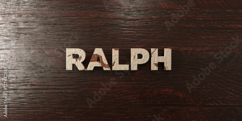 Photo  Ralph - grungy wooden headline on Maple  - 3D rendered royalty free stock image