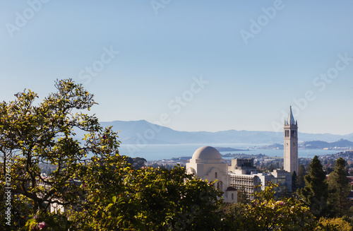 Canvas Print View of Berkeley and Sather Tower.