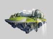 Leinwandbild Motiv Amazing island with grove floating in the air