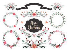 Christmas Wreath And Floral Arrangements Collection