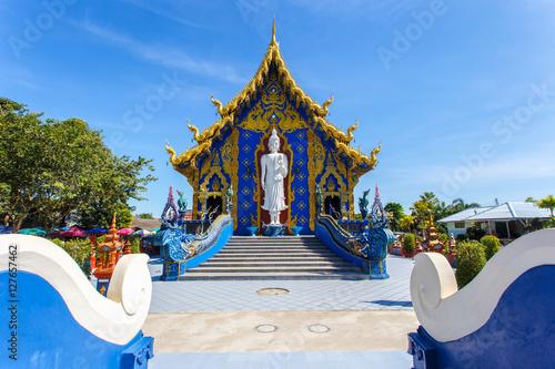 Keuken foto achterwand Temple Rong Sua Ten temple with blue sky background, Chiang Rai Province, Thailand