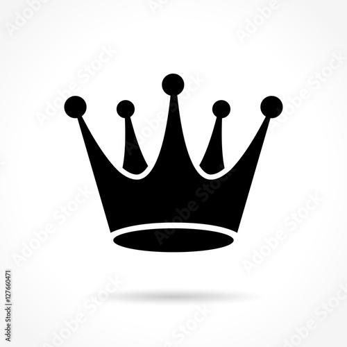 Fotografering crown icon on white background