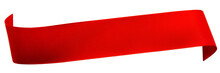 Red Satin Ribbon Isolated On W...