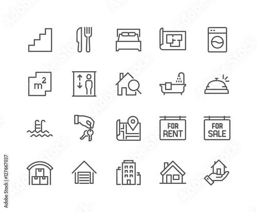 Fotografía  Line Real Estate Icons