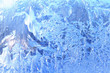 ice window frosted blue abstract background