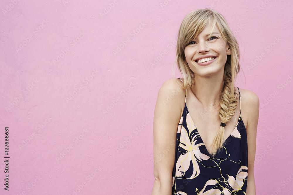 Fototapety, obrazy: Beautiful smile on blond model, portrait