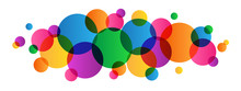 OVERLAPPING MULTICOLOURED CIRCLES BANNER