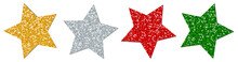 4 Stars Sparkling Gold/Silver/Red/Green