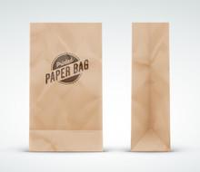 Sacs En Papier Kraft Vectoriels 1