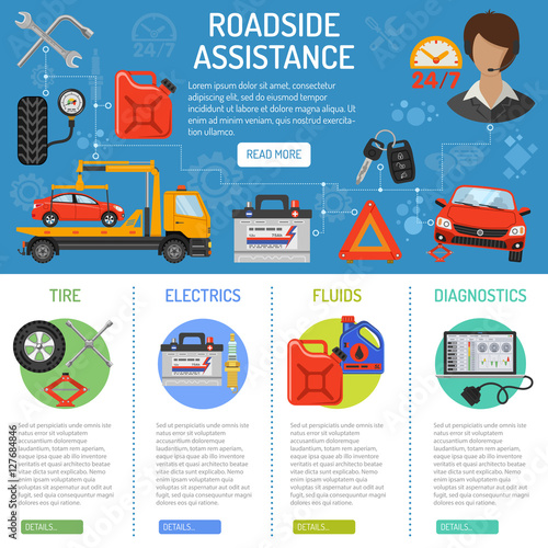 Car Service and Roadside Assistance Infographics - Buy this stock