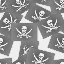 The Jolly Roger Of Calico Jack - Eamless Pattern