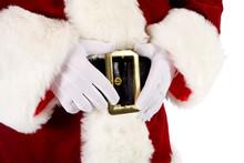 Santa: Santa's Hands Holding Belt Buckle