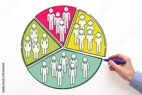 Fotografía  Market segmentation. dividing market into subsets or audiences.