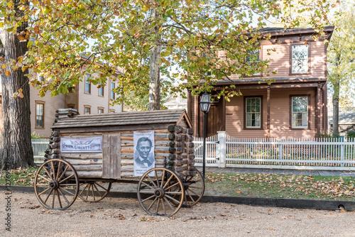 Poster Havana Abraham Lincoln Log Cabin Campaign Wagon
