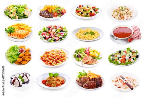 set of various plates of food © Nitr