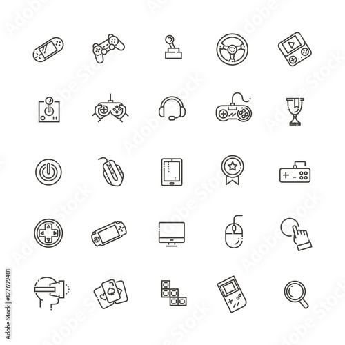 video game and joystick icons set Tablou Canvas