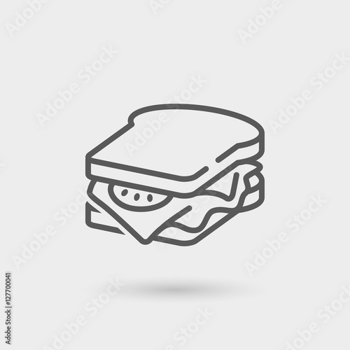 Cadres-photo bureau Snack sandwich thin line icon