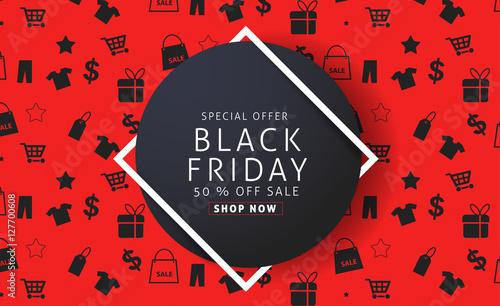 Fotografia  Black Friday sale inscription design template
