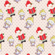Santa Claus and penguins pattern