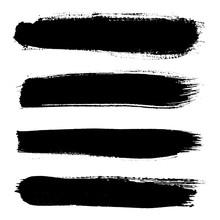 Set Of Grunge Brush Strokes. H...
