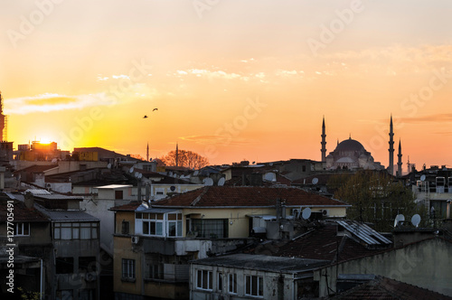 Poster  Sunset over Istanbul