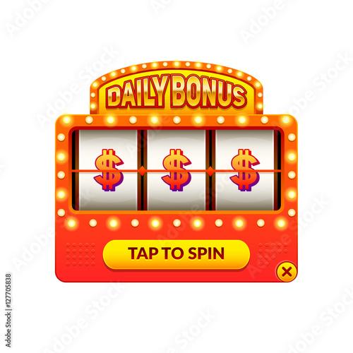 Cartoon Slot Machine Daily Bonus Gambling Game Eps10 Vector Slots Illustration Buy This Stock Vector And Explore Similar Vectors At Adobe Stock Adobe Stock