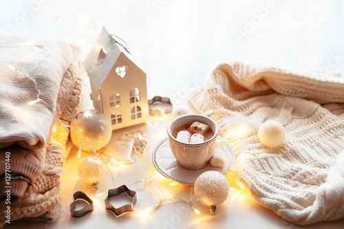 Photo  White Christmas decoration