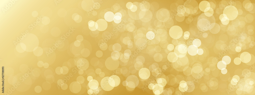 Fototapeta GOLD BOKEH LIGHTS Background