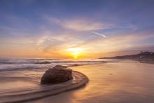 Beautiful Sunset At Laguna Beach In Southern California.