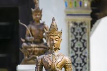 Thai Sculpture In Action Of Welcome