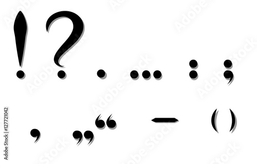 Fotografie, Obraz  Black punctuation marks. Vector illustration
