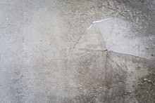 Grunge Concrete Cement Wall With Crack In Home Loft Style, Great For Your Design And Texture Background.  Freedom From Captivity Concept.