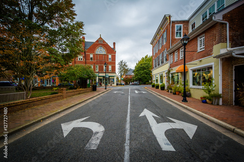 Fotografie, Obraz  The intersection of Dover and Washington Streets, in Easton, Mar