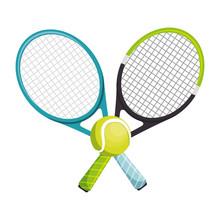 Tennis Racket Equipment Icon Vector Illustration Design