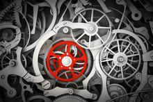 Mechanism, Clockwork With One ...