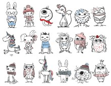 Cute Hipster Animals