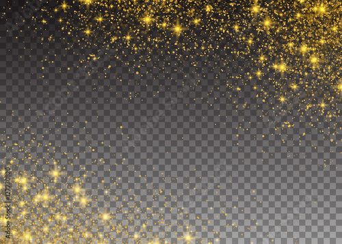 Glitter Particles Effect Gold Glittering Space Star Dust