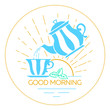 icon Good morning linear style