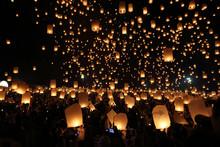 Floating Lantern Festival In T...
