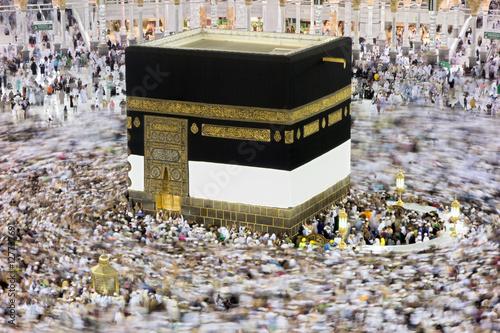 Kaaba in Mecca Saudi Arabia at Night