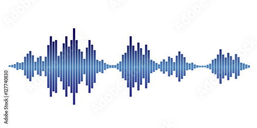 blue Sound waves Wallpaper Mural