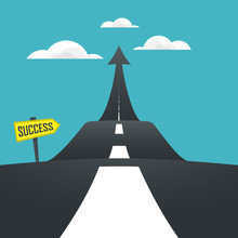 Concept Of The Road To Success...