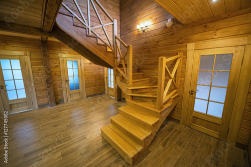 Photo Stands Stairs Wooden stair - Stair in a wood house