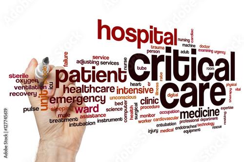 Fotografía  Critical care word cloud