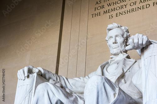Fotografia  Abraham Lincoln Memorial Sitting Chair famous Landmark Closeup P