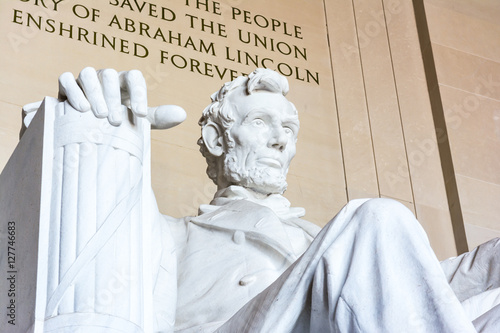 Photographie  Abraham Lincoln Memorial Sitting Chair famous Landmark Closeup P