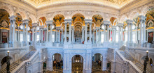 Interior Panorama Library Of Congress Washingt D.C. Architecture