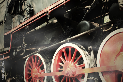 Steam Engine Train Wallpaper Mural