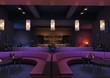 Leinwanddruck Bild - 3D Rendering Lounge Bar
