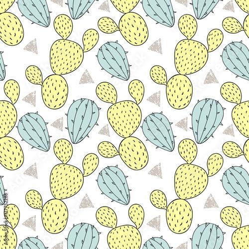 koloru-kaktusowy-bezszwowy-wzor-wektorowa-ilustracja-recznie-rysowane-c